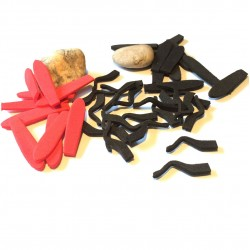 Set Saltamontes Foam precortado - Black / Red
