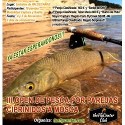 III OPEN FLYCREEK de pesca por parejas BARBOS A MOSCA