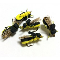 Hopper Black/Yellow - Mosca para la pesca de Ciprinidos