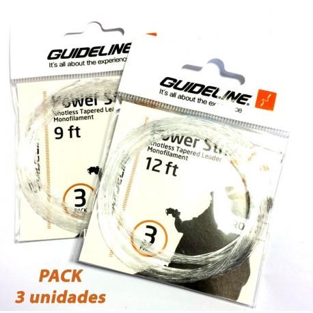 Bajo de Linea Guideline Power Strike 12 ft.  - 3 Pack