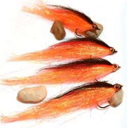 Twist Naranja - Mosca para pesca de Lucio y Bass