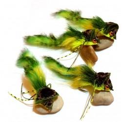 Diver ciervo verde-chartreause - Mosca para Lucio y Bass