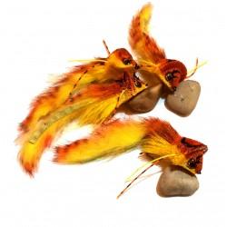Diver ciervo Naranja- Amarillo - Mosca para Lucio y Bass