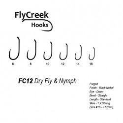 Anzuelo sin muerte FlyCreek FC12 BL Dry & Nymph Strong