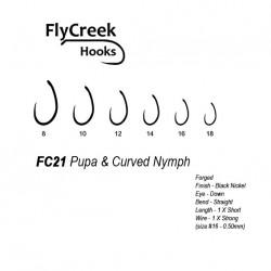 Anzuelo sin muerte FlyCreek FC21 BL Pupa & Curved Nymph