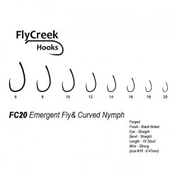 Anzuelo sin muerte FlyCreek FC20 BL Emergent & Curved Nymph