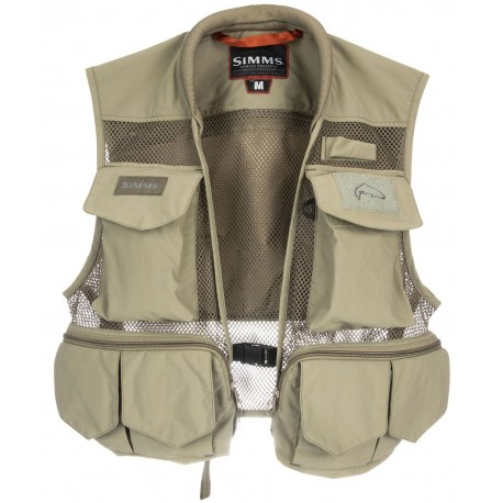 Chaleco de pesca Simms Tributary Vest Tan