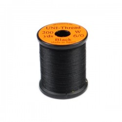 Black - UNI-Thread 0/6 - 50yds. Hilo de montaje