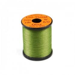 Black - UNI-Thread 0/6 - 50yds. Hilo de montaje