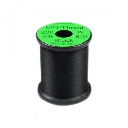 Black - UNI-Thread 0/8 - 200yds. Hilo de montaje
