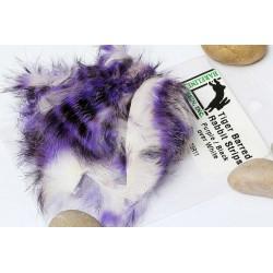 Piel de Conejo en tiras Bicolor barradas