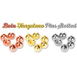 Bola Tungsteno Plus Slotted Cabezas para Ninfas y Ninfa Perdigones