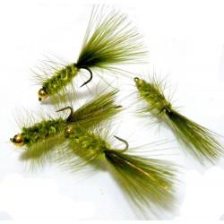 Woolly bugger Oliva - Mosca para la pesca de Trucha