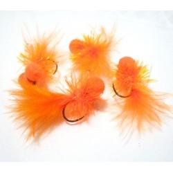 Booby Hot Orange - Mosca para la pesca en Lago