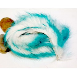 Piel de conejo en Tiras Bicolor